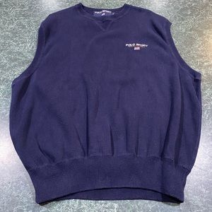 Polo Sport Ralph Lauren Navy Blue Sweater Vest XL